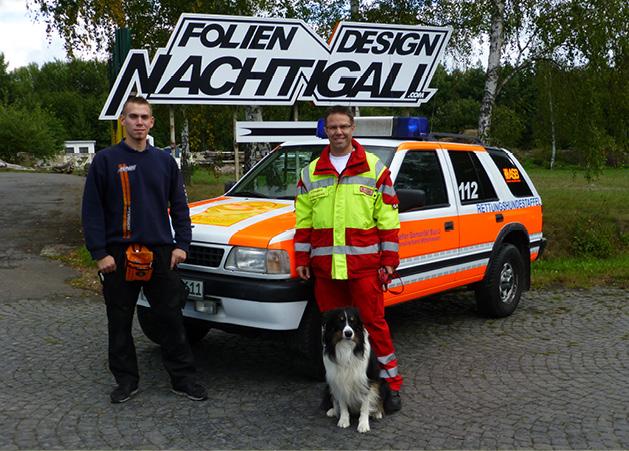 Opel Frontera Übergabe nach Beschriftung